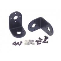 "Aluminium ""L"" Connector Bracket Two Pack (Black)"