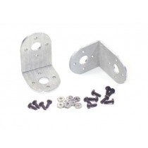 """Aluminium Light-weight """"L"""" Connector Bracket Two Pack (Brushed)"""