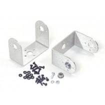 "Aluminium ""C"" Servo Bracket with Ball Bearings Two Pack (Brushed)"