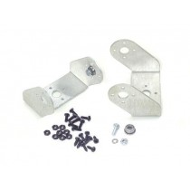 Aluminium Offset Servo Bracket with Ball Bearings Two Pack (Brushed)
