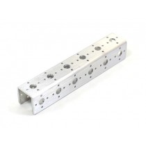 """Aluminium Channel - 6"""" Single Pack (Brushed)"""