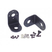 "Aluminium ""L"" Connector Bracket Two Pack (Black)"