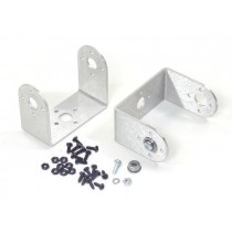"Aluminium ""C"" Servo Bracket with Ball Bearings Two Pack (Brushed)"